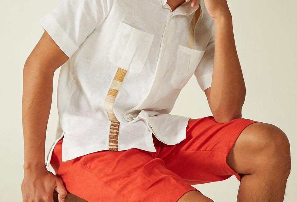 Men Linen White Ulap Doyo Shirt