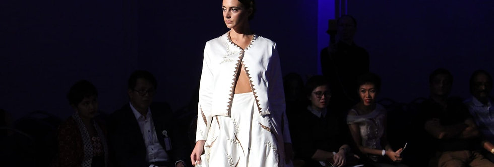Silk Tapis Long Skirt