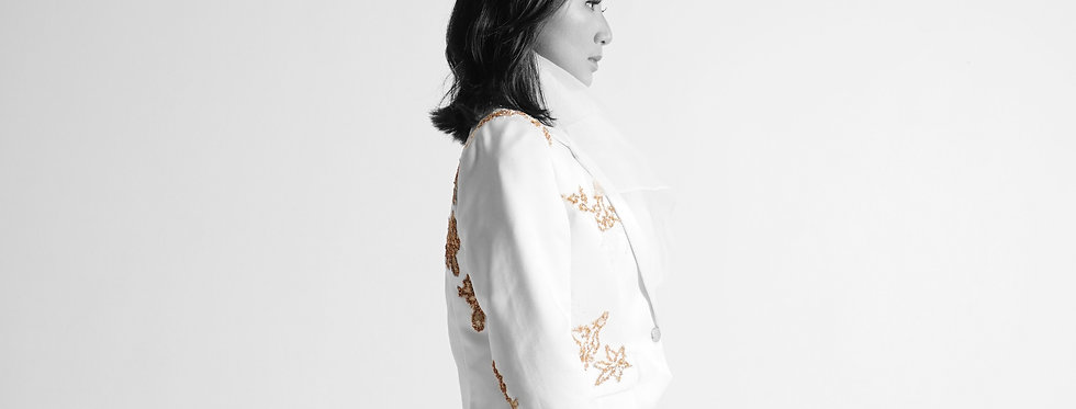 Hand Embroidered Silk Suit
