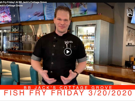Tomorrow Is Fish Fry Friday! At BB Jack's Cottage Grove