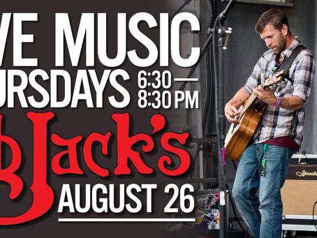 Live Music @BBJacksCG 8/26/21