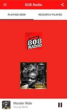 808 Radio app Picture on iphon