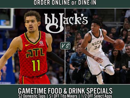Hawks Vs Bucks @7pm-BB Jacks CG