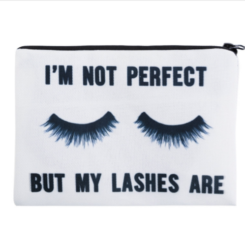 """""""I'm not perfect"""" cosmetic Bag"""