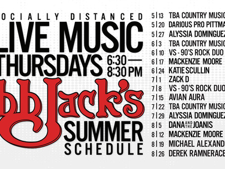 Live Music Tonight @BBJacksCG 7pm-9pm