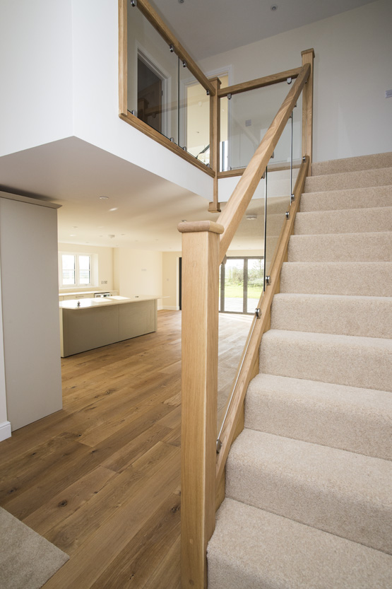 Oak Flooring and staircase Suffolk