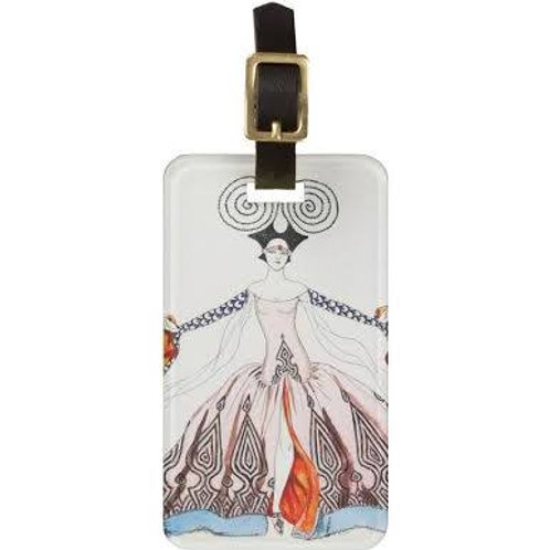 Art Deco Luggage Tag
