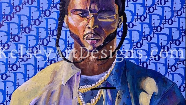 """Pop 'Bashar Jackson' Smoke"" Fine Art Print"