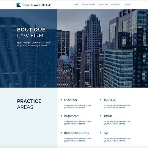 Premade Legal, Consultanting Web Design Package