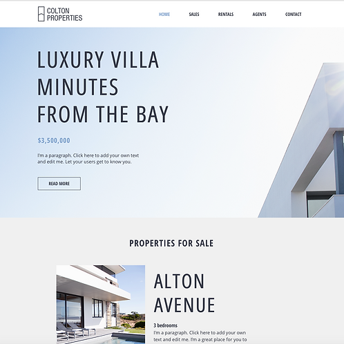 Premade Estate Agent Web Design Package