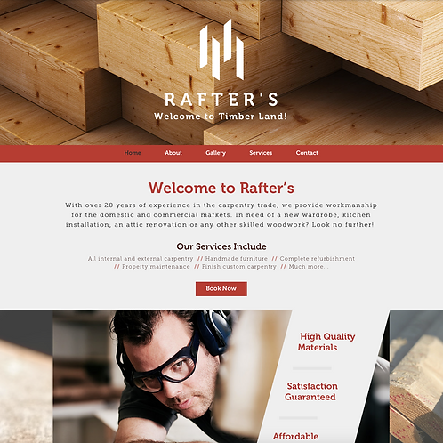 Premade Carpenter & Craftsmen Web Design Package