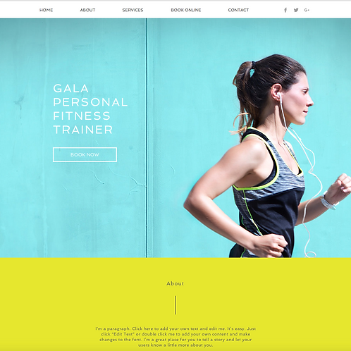 Premade Personal Trainer Web Design Package