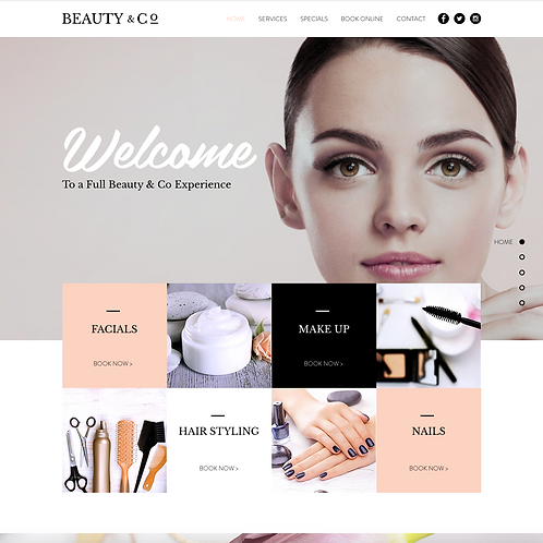 Premade Beauty Salson Web Design Package