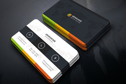 Premade Multicolour Business Card Package