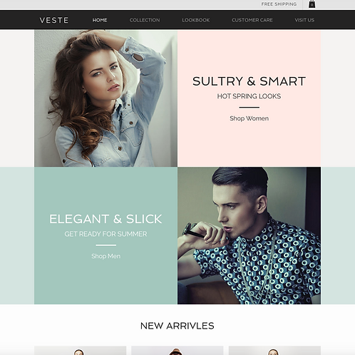 Premade Fashion Boutique Web Design Package