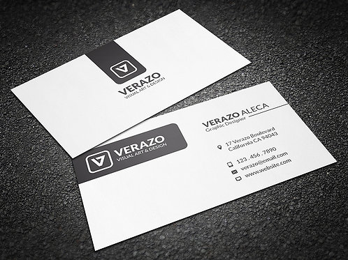 Premade Clean Minimal Business Card Package