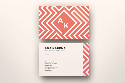 Premade Maze Business Card 2 Package