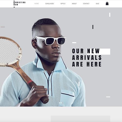 Premade Eyewear Boutique Web Design Package