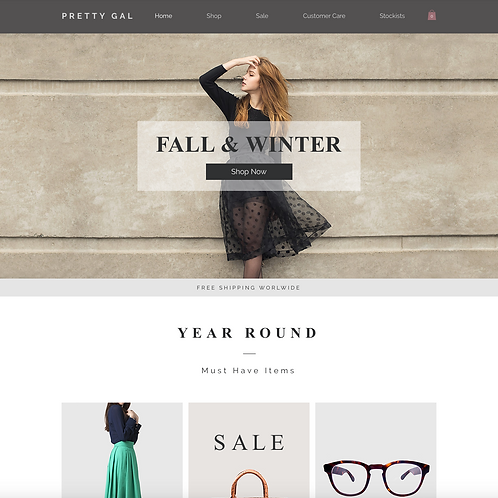 Premade Fashion Retail Boutique Web Design Package