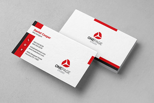 Premade Clean Business Card Package