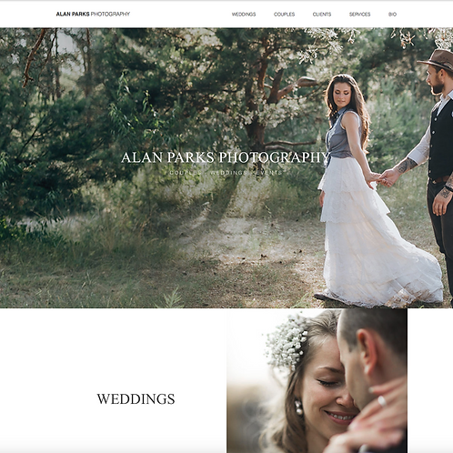 Premade Photographers Web Design Package