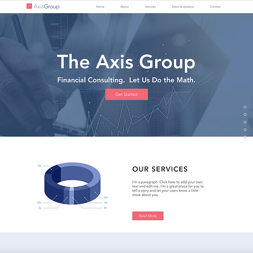 Premade Financial Consultants Web Design Package