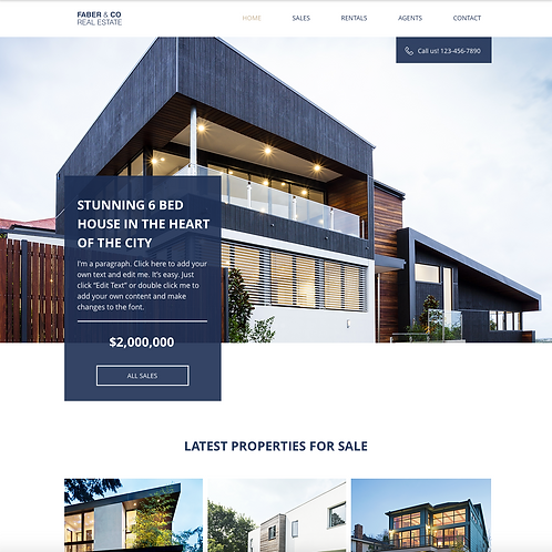 Premade Real Estate Web Design Package