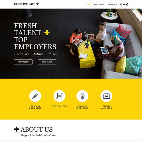 Premade Employment Agencies Web Design Package