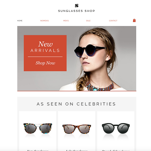 Premade Online Boutique Web Design Package