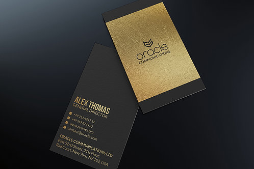 Premade Premium Gold & Black Business Card Pack