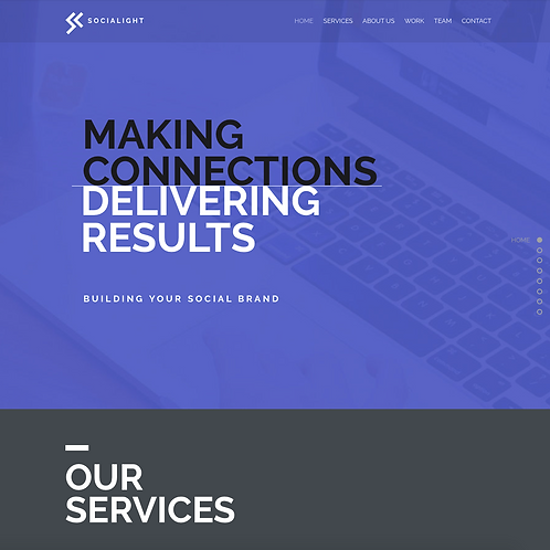 Premade Marketing & Branding Web Design Package