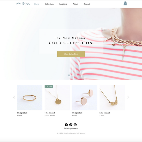 Premade Jewellery Boutique Web Design Package