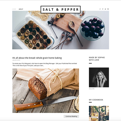 Premade Lifestyle Web Design Package