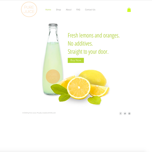 Premade Organic Store Web Design Package
