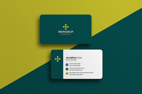 Premade corporate 2 business card pack colourmoves