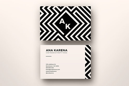 Premade Maze Business Card 1 Package