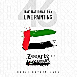 UAE National Day Live Painting