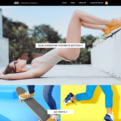 Premade Sneaker Store Web Design Package