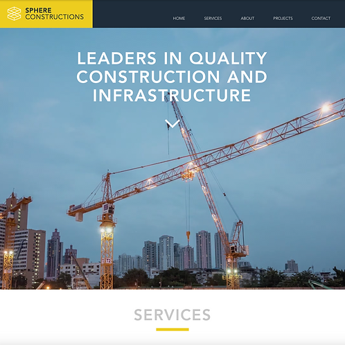 Premade Construction Firms Web Design Package