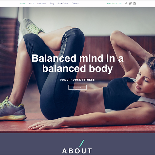 Premade Fitness Studio Web Design Package