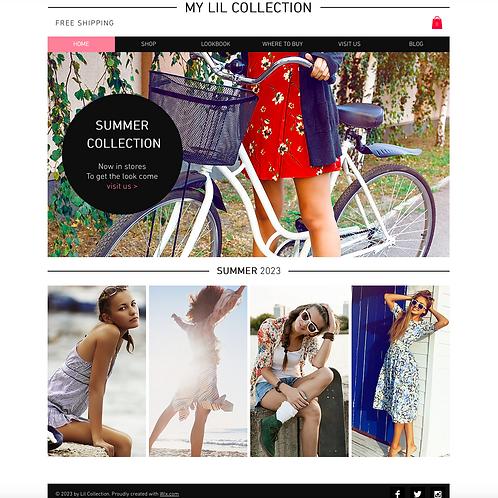 Premade Fashion Retailer Web Design Package