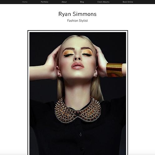 Premade Fashion Stylist Web Design Package