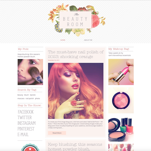 Premade Beauty Blog Web Design Package