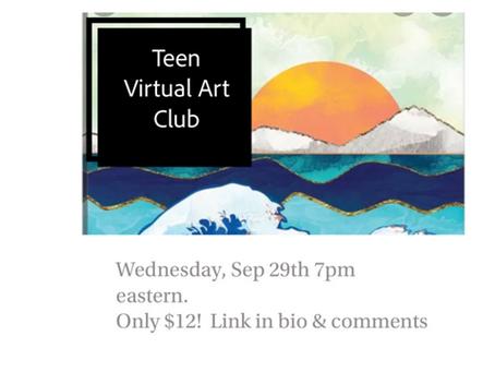 Teen art club online! Outschool 9/29/21