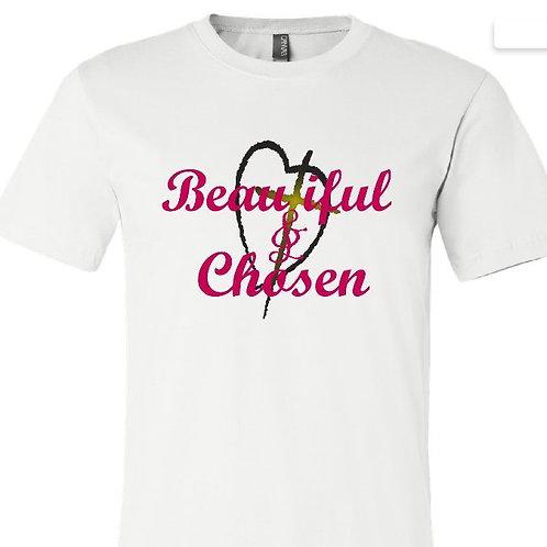 Beautiful & Chosen White/Grey T- Shirts