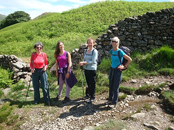 A female hiking group in the Lake District
