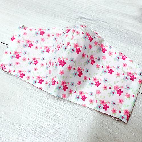 Pink Flowers White BG