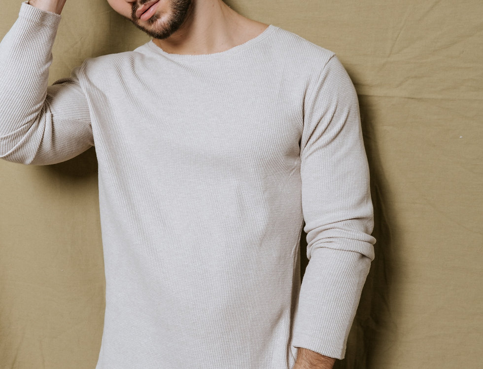 Suéter ultra liviano Gary Latte