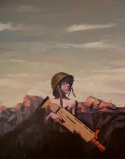 Sans titre (#2003) huile sur toile,162X1