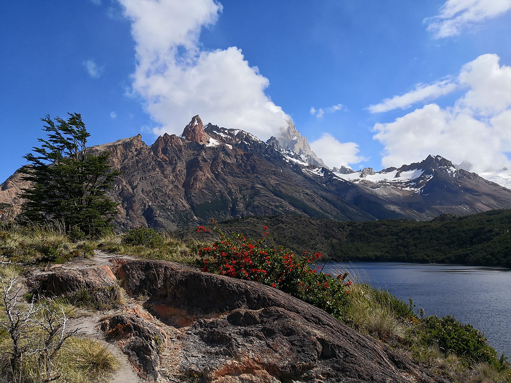 Fitz Roy views from Laguna Azul